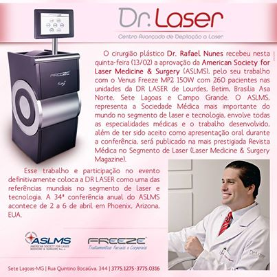 DR LASER e Dr. Rafael Nunes - Homenagem Facebook
